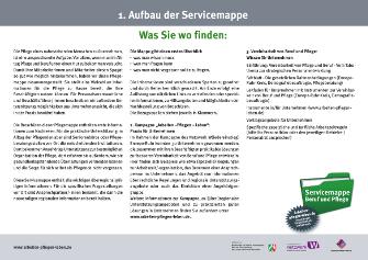 """Aufbau """"Digitale Servicemappe"""""""