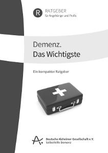 """Broschüre """"Das Wichtigste über Alzheimer"""""""