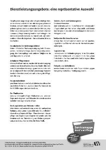 """Broschüre """"Dienstleistungsangebote vor Ort """""""
