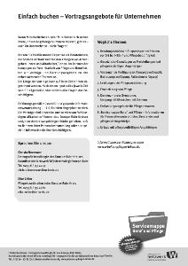 """Flyer """"Vortragsangebote für Unternehmen"""""""