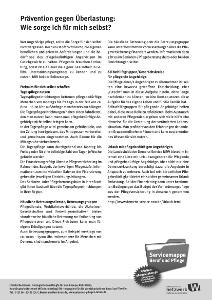 """Infoblatt """"Prävention gegen Überlastung"""""""