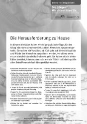 "Merkblatt ""Demenz – den Alltag gestalten"""
